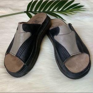 Dr. martens leather sandal slides